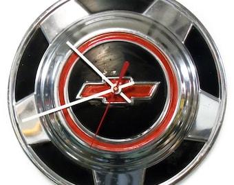 1976 - 1987 Chevrolet CK Pickup Hubcap Clock - Chevy Bowtie Hub Cap - 1977 1978 1979 1980 1981 1982 1983 1984 1985 1986
