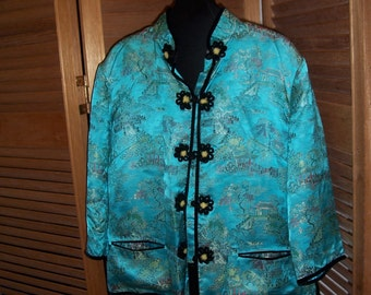 Vintage Chinese Jacket with Velvet Frogs