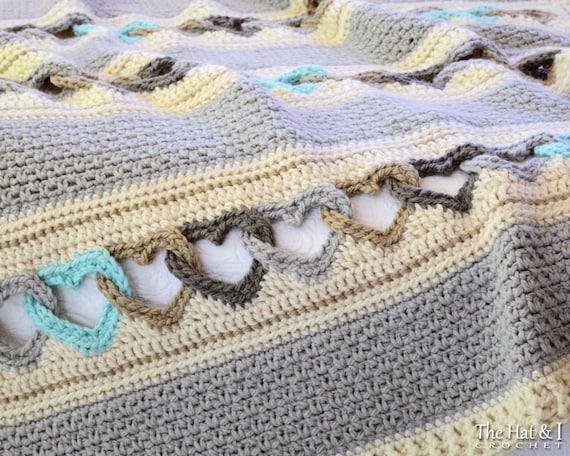 Crochet pattern with all my heart crochet blanket pattern crochet pattern with all my heart crochet blanket pattern heart afghan pattern linked hearts blanket pattern instant pdf download dt1010fo