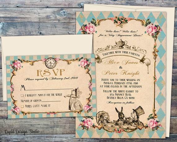 Fairytale Invitations Wedding: Fairytale Wedding Invitations Printed Wedding Invitation Set