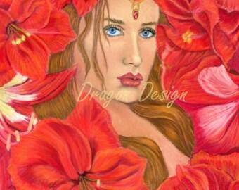 Adora and Red Amaryllis