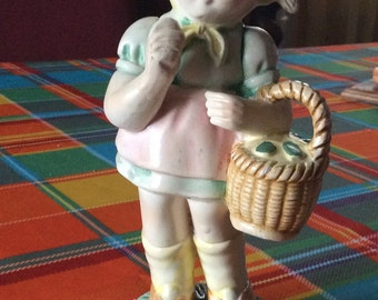 Vintage French ceramic little girl