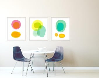 Set of 3 Prints, Abstract Art Prints, Modern Art Prints, Contemporary Wall Art, Art Print Set