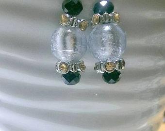 Silver Lampwork Earrings