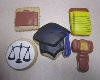 1 dozen Attorney/Lawyer Hand Decorated Cookies