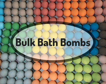 Bulk Bath Bombs, Custom Labels Available! Wholesale bath bombs! Free Shipping Discount, Handmade Bath Fizzies, Party Favors