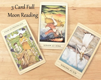 Same Day Full Moon Tarot Card Reading, Psychic Reading, Tarot Reading by Clairvoyant, Same Day Reading, Intuitive Reading by Empath