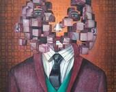 11x14 Cube Man in Suit Ge...