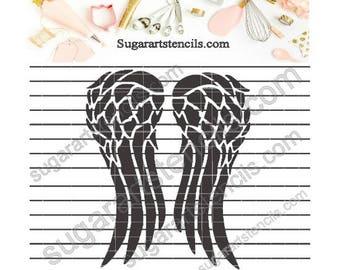 The Walking Dead Daryl Dixon wings cookie Stencil Nb1628