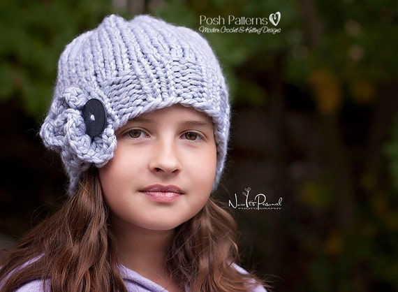 Childs Knitted Slouchy Hat Pattern Toddler