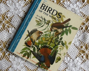 Vintage Childrens Book - Birds of the World, An Introduction to the Study of Birds, Eunice Holsaert, The Golden Library of Knowledge 1958