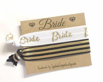 Bride Gift - Hair Tie Favor - Hair Tie Bride Gift - Bride To Be Gift - Hair Tie Favor - Hair Tie for Bride - Hair Tie Bracelet