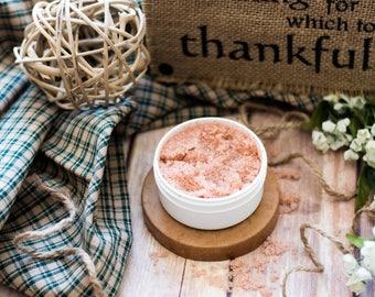 Scalp Massager Scrub -- Pink Passion Sea Salt Rejuvenating Scalp Scrub to Promote Healthy Natural Hair Growth