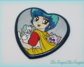 YU magnet with Lay and denies-hand painted-heart