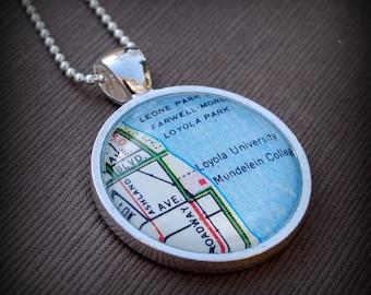 Loyola University Map Necklace