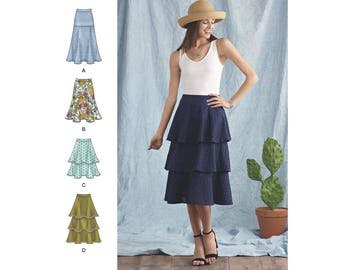 Simplicity Sewing Pattern 8388 Misses' Skirts with Length and Flounce Variations