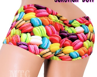 Neon Macaron Cookie Scrunch Butt Booty Shorts Adult All Sizes- MTCoffinz (Choose Hi Rise or Lo Rise)