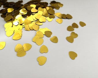 birthday decorations, gold heart confetti, birthday party decor, table scatter, baby shower table decorations, heart confetti, tiny hearts