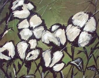 Cotton Flower in Green