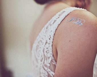 I DO Temporary Wedding Tattoo