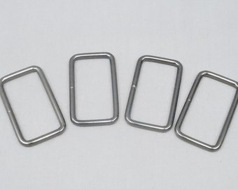 20 Gunmetal 1.5 Inch (38mm) Zinc Alloy Rectangle Rings