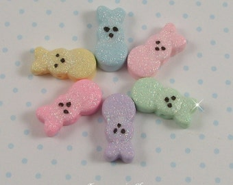 Polymer Clay Bunny Beads