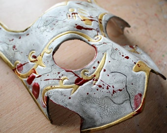Splicer-inspired Bunny Leather Mask - Made to order