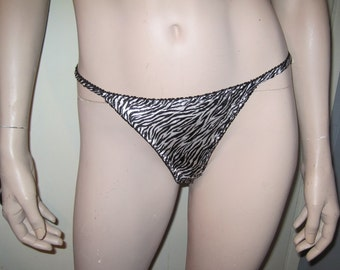 JOLIE INTIMATES Animal Print Zebra Panties Sz 5 Small
