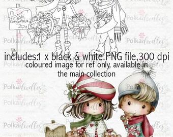 Winnie Winterland - Yummy Gingerbread digital craft stamp download