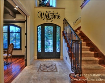 Welcome Decal for Wall - Welcome 4 Welcome Decal - Welcome Vinyl Wall Decal - Welcome Wall Decal- Welcome Art- Welcome Door Decal