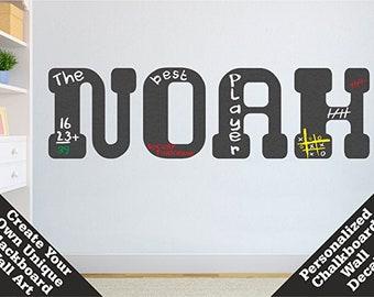 Personalisierte Namen Tafel Wandtattoo | Benutzerdefinierte Vinyl  Buchstaben Tafelaufkleber | Büro, Küche, Spielzimmer, Kinder Zimmer  Wand Dekor