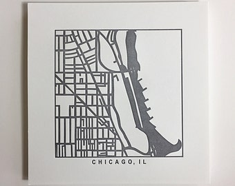 Chicago or Boston pressed prints