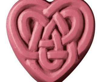 Heart Soap, Celtic Soap, Novelty Soap, You pick scent & color