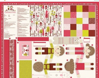 20% off thru Apr 24th Just Another Walk in the Woods-HANSEL & GRETEL--panel Moda fabric makes  dolls, bear, bunny pillow, blanket/quilt 2052
