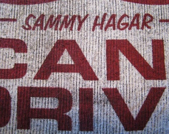 Sammy Hagar Shirt. RARE. 80's. Vintage T-shirt. Graphic Tee. Retro Black. XX-Large. I Can't Drive 55. Red Rocker. Concert. Urban Streetwear.