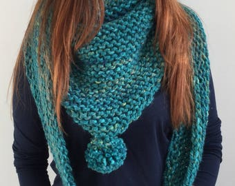 PATTERN PDF - Marina shawl, hat and mitts - Easy - Superchunky/superbulky
