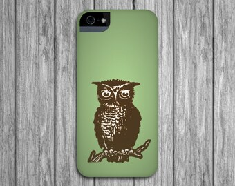 Owl iPhone 6 Case, Green and Brown iPhone 5S, Woodland Galaxy S6,  Case iPhone 6 Plus Case