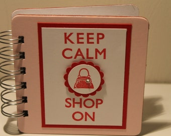 Keep Calm Shop On Password Book
