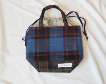 Medium Knitting Project Bag // Alyson Mini Tote // Blue Mad for Plaid