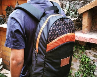 Black DaySack / BackPack / Bike Bag / Hipster Bags - for Men / Women - Maato Collection