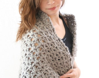 Pdf digital patternboucle crochet shawl pattern easy crochet pdf digital patterneasy crochet shawl pattern chunky shawl pattern gray shawl dt1010fo