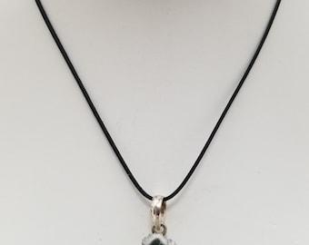 Amethyst Stalactite Slice Pendant Necklace, Free Shipping (E17123), Amethyst Stalactite Necklace, Pendantlady,Pq