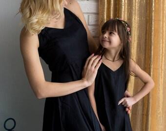 Matching Little Black dress - Matching Mommy Baby dresses - Matching Outfit, Mom and Me, Matching dresses, Mini Me, Shift dress, tunic dress