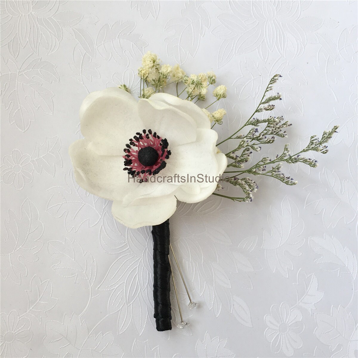 Boutonniere white flower grooms boutonniere pin white zoom mightylinksfo Image collections
