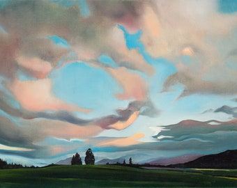 Sunset from Valley Rim Road - giclee print on paper or canvas