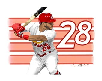 Greeting Card of Tommy Pham (St. Louis Cardinals' Outfielder) Drawing