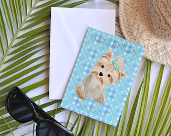 Card - Birthday - Yorkie gorgeous