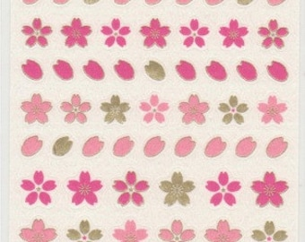 Sakura Stickers - Cherry Blossom Stickers - Paper Stickers - Japanese Stickers - Reference I5424-25
