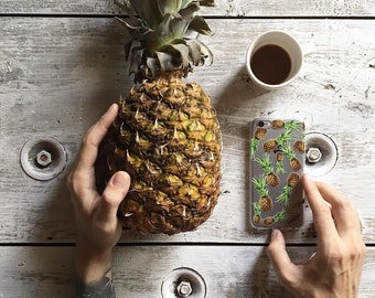iPhone 8 Case Clear iPhone 8 Plus Case iPhone X Case iPhone 7 Plus case Clear iPhone 7 Case iPhone 6 Case Samsung S8 Case,Pineapple pattern