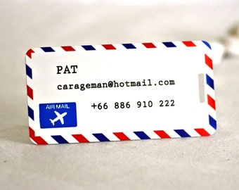 Airmail Customizable Travelling Luggage Baggage Tags